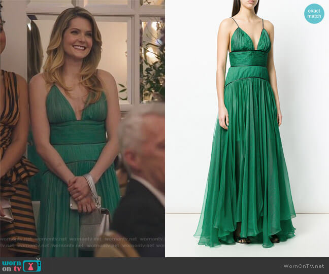Katya maxi dress by Maria Lucia Hohan worn by Sutton (Meghann Fahy) on The Bold Type