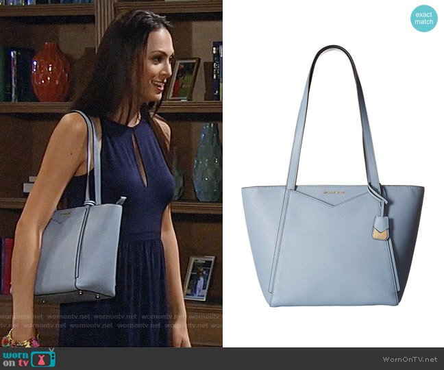 MICHAEL Michael Kors Whitney Small Top Zip Tote worn by Terri on General Hospital