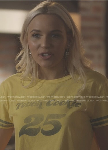 Maddie's yellow Touch Cookie tee on Nashville
