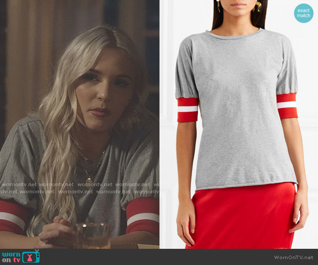 Sunkissed Ribbed Jersey-Trimmed T-shirt by Maggie Marilyn worn by Maddie Jaymes (Lennon Stella) on Nashville