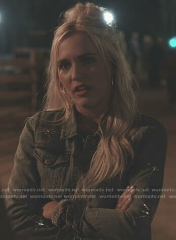 Maddie's embellished denim jacket on Nashville
