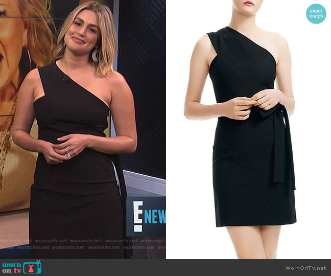 Rimbo One-Shoulder Mini Dress by Maje worn by Carissa Loethen Culiner  on E! News