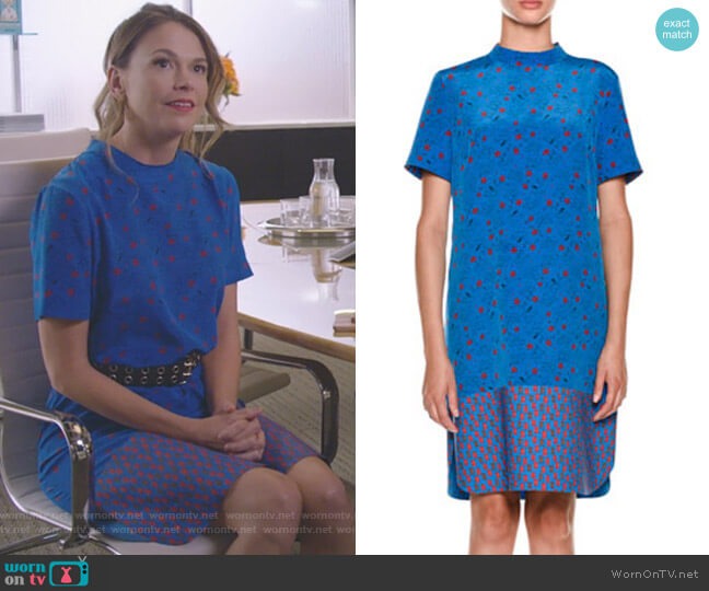 Short-Sleeve Floral-Print Dress by Marni worn by Liza Miller (Sutton Foster) on Younger