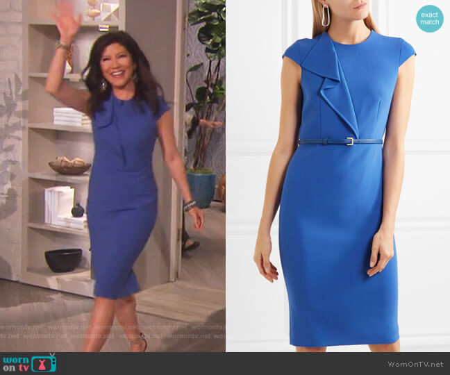 Zarina ruffled stretch-wool dress by Max Mara worn by Julie Chen  on The Talk