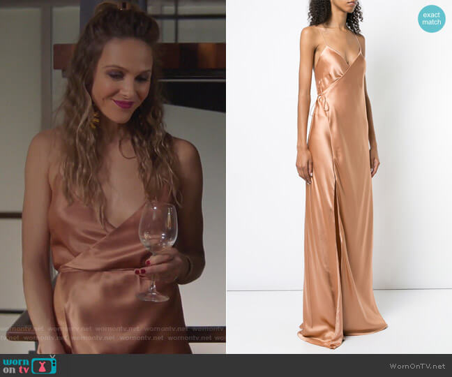 Strappy Wrap Gown by Michelle Mason  worn by Beau Garrett on GG2D