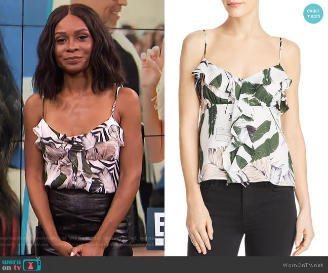 Emilia Silk Camisole Top by Milly worn by Zuri Hall  on E! News