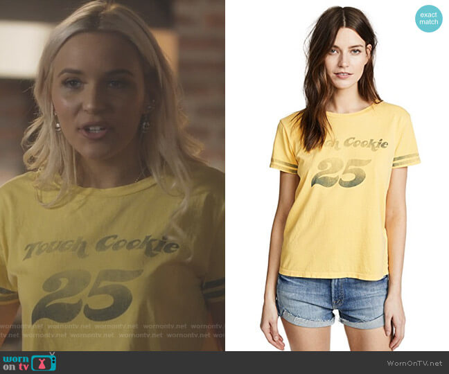 The Boxy Goodie Goodie Tee by Mother worn by Maddie Jaymes (Lennon Stella) on Nashville