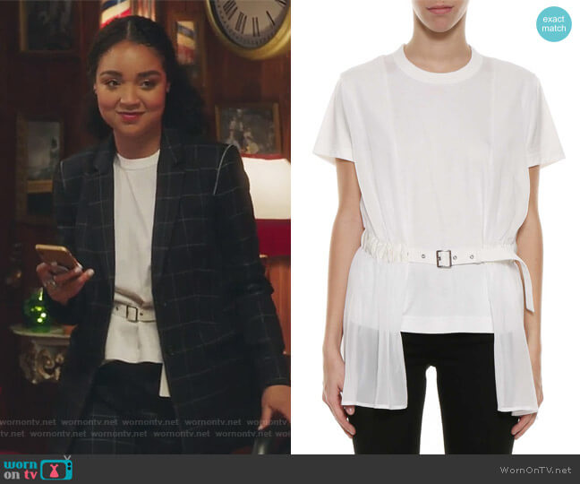 Belted Long T-shirt by Noir Kei Ninomiya worn by Aisha Dee on The Bold Type
