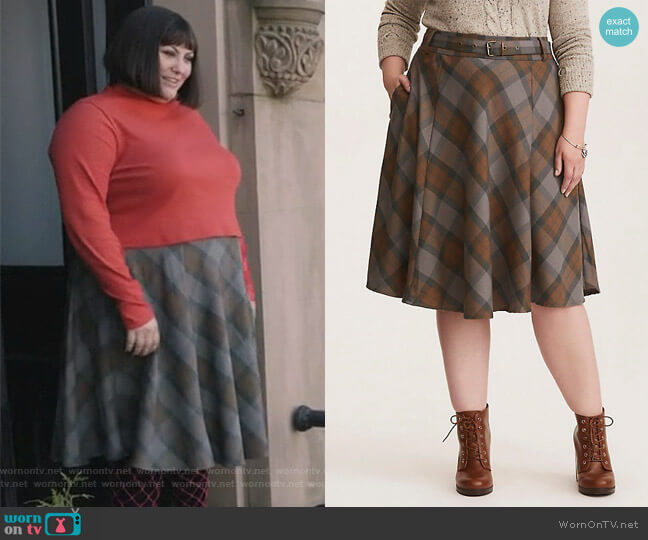 Tartan Skirt by Outlander worn by Plum Kettle (Joy Nash) on Dietland
