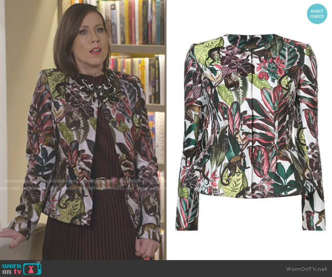 Printed Jacket by Oscar de la Renta worn by Diana Trout (Miriam Shor) on Younger