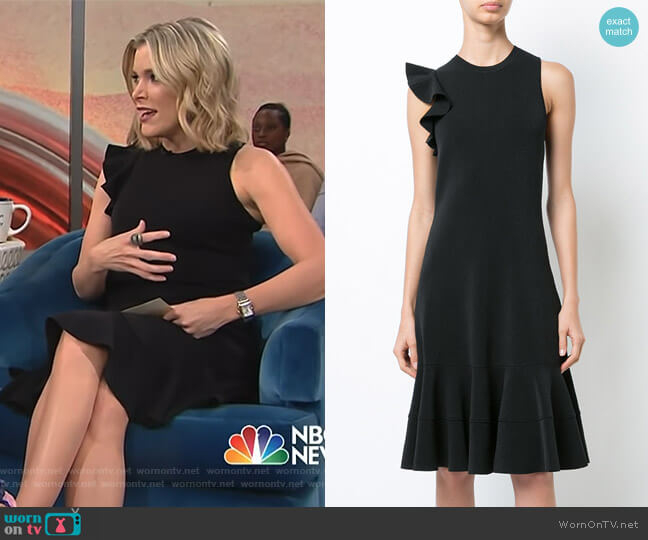 Sleeveless One Shoulder Ruffle Dress by Proenza Schouler worn by Megyn Kelly on Today