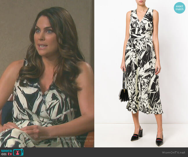 Printed Midi Dress by Proenza Schouler worn by Chloe Lane (Nadia Bjorlin) on Days of our Lives