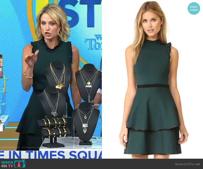 Ryker Dress by Parker worn by Amy Robach  on Good Morning America