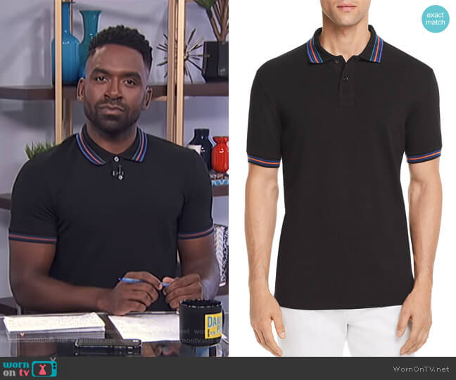 Tipped Regular Fit Polo Shirt by PS Paul Smith worn by Justin Sylvester on E! News