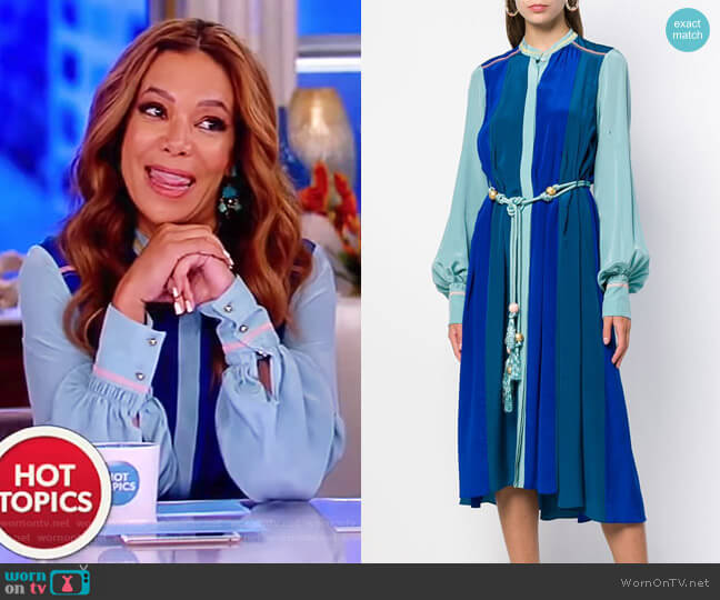Panelled Shirtdress by Peter Pilotto worn by Sunny Hostin on The View