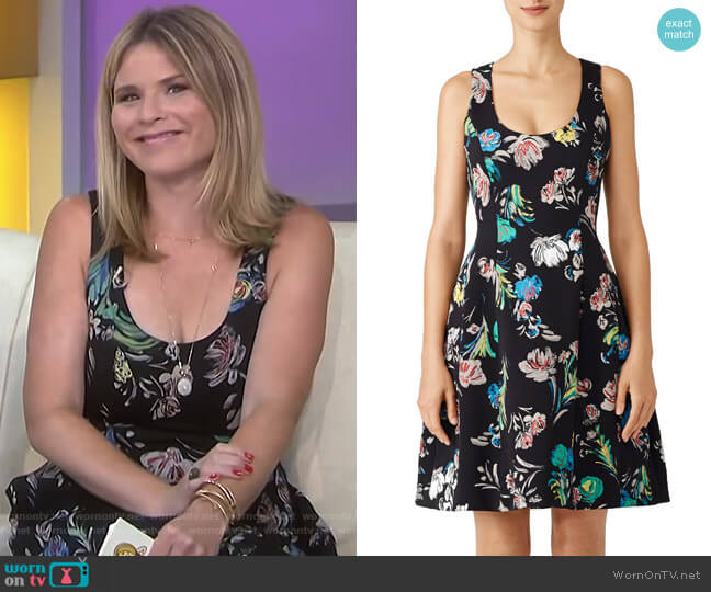 Floral Cady Dress by Prabal Gurung worn by Jenna Bush Hager  on Today