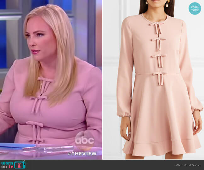 Bow-detailed crepe mini dress by RED Valentino worn by Meghan McCain (Meghan McCain) on The View