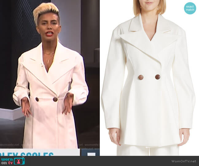 Maja Suit Jacket by Rejina Pyo worn by Sibley Scoles on E! News
