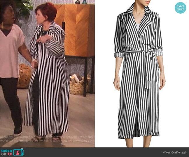 Karina Striped Jacket by RtA worn by Sharon Osbourne  on The Talk