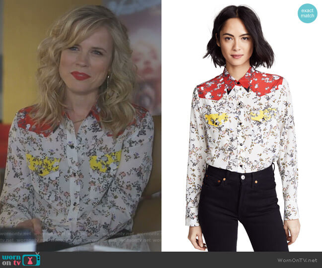 Floral Jasper Shirt by Rag & Bone worn by Ilse de Witt (Ilse DeLange) on Nashville