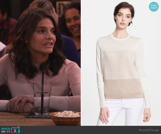 'Marissa' Long Sleeve Knit Top by Rag and Bone worn by Leslie Curry (Lindsey Kraft) on Living Biblically