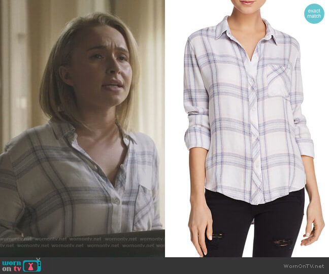 Hunter Plaid Shirt in Raspberry Coast White by Rails worn by Juliette Barnes (Hayden Panettiere) on Nashville