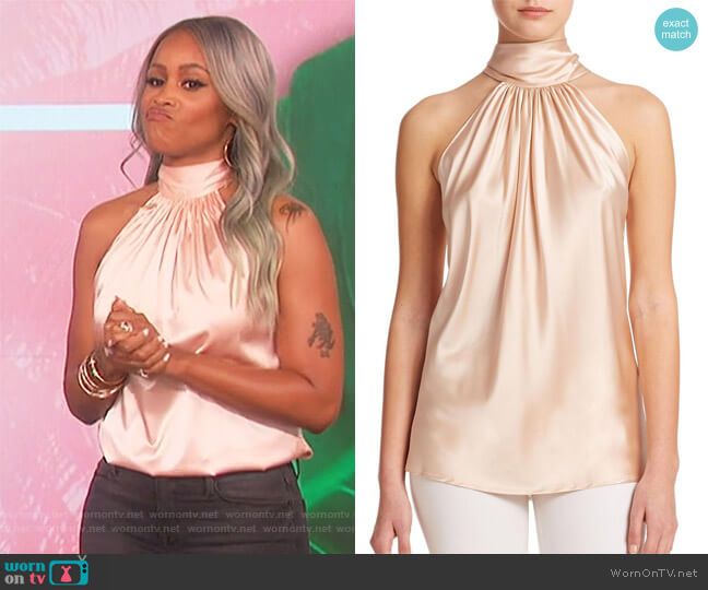 Paige Halter Silk Top by Ramy Brook worn by Eve  on The Talk