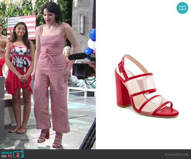 Raye x House of Harlow Sommers Heel worn by Cait Fairbanks on The Young & the Restless