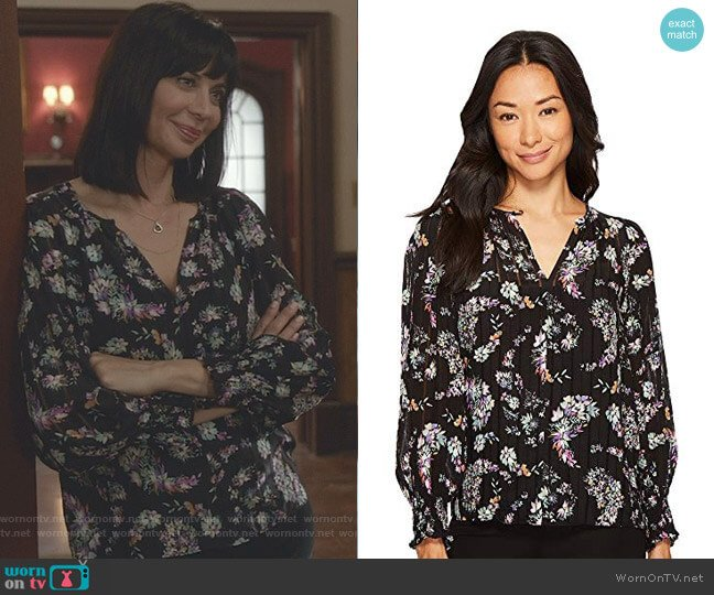 Long Sleeve Jewel Paisley Top by Rebecca Taylor worn by Catherine Bell on Good Witch