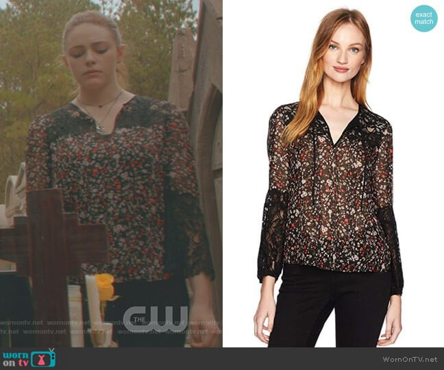 Lyra Lace Top by Rebecca Taylor worn by Danielle Rose Russell on The Originals