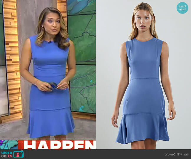 Jackie Sleeveless Fit & Flare Dress by Reiss worn by Ginger Zee on Good Morning America