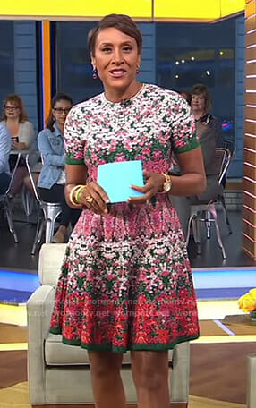 Robin's floral short sleeve dress on Good Morning America