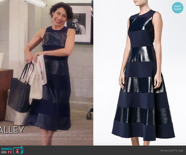 Wren sleeveless dress by Roksanda worn by Abby McCarthy (Lisa Edelstein) on GG2D