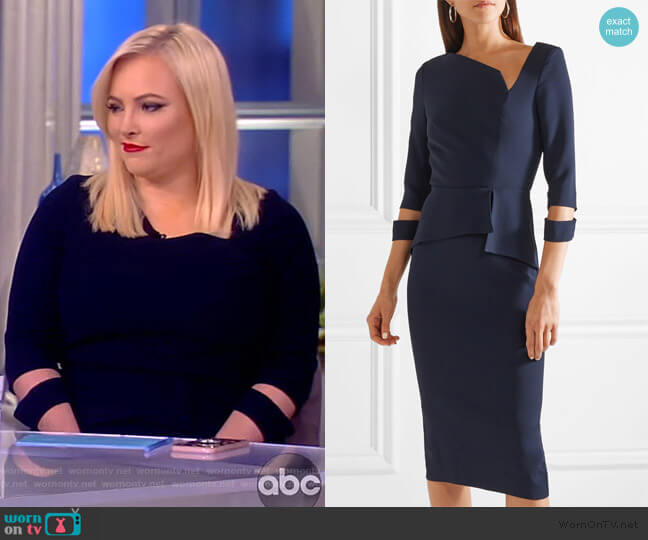 Dunne asymmetric cutout crepe dress by Roland Mouret worn by Meghan McCain  on The View