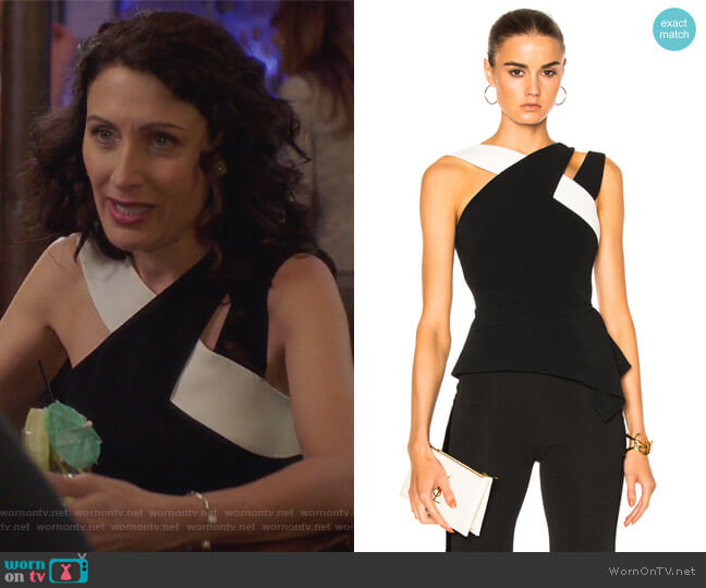 Thornhill Stretch Viscose Top by Roland Mouret worn by Abby McCarthy (Lisa Edelstein) on GG2D