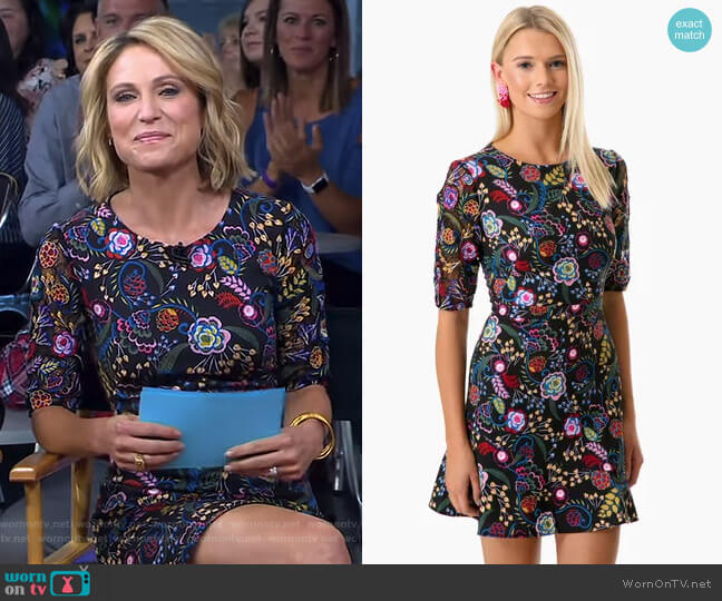 Celia Dress by Saloni worn by Amy Robach  on Good Morning America