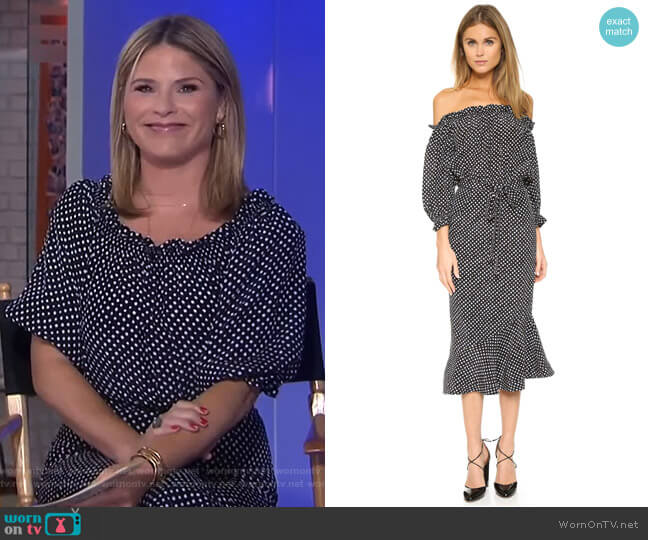 Grace Dress by Saloni worn by Jenna Bush Hager (Jenna Bush Hager) on Today