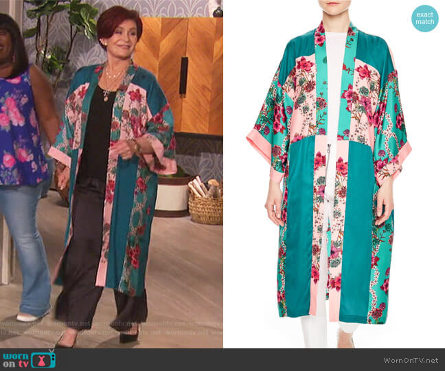 Kimono Jacket by Sandro worn by Sharon Osbourne on The Talk