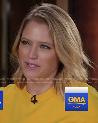 Sara's yellow bell sleeve top on Good Morning America