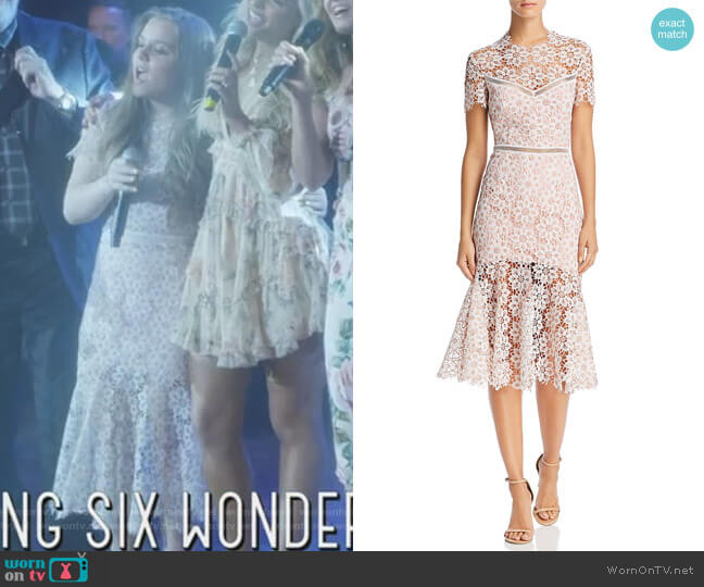 Illusion Lace Midi Dress by Saylor worn by Daphne Conrad (Maisy Stella) on Nashville