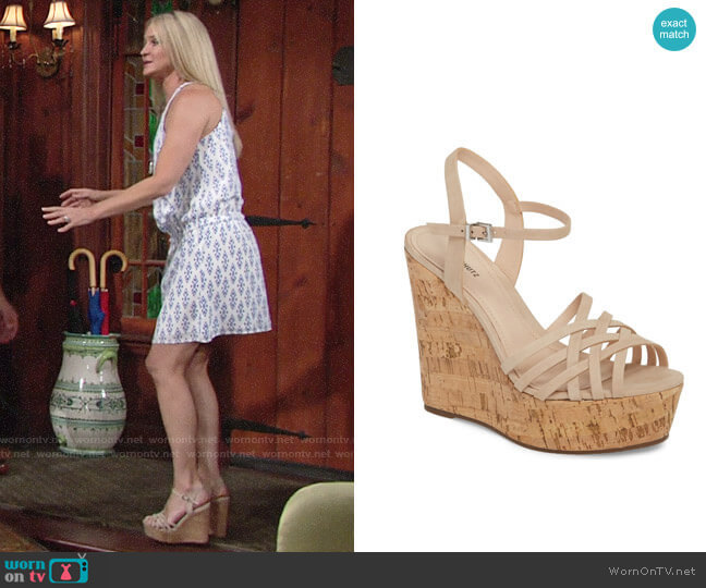 Schutz Louna Sandal worn by Sharon Case on The Young & the Restless