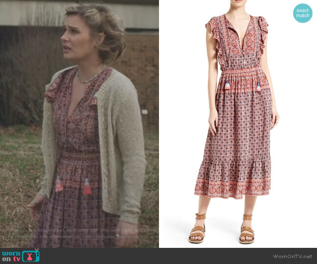 Selene Print Silk Midi Dress by Sea worn by Scarlett O'Connor (Clare Bowen) on Nashville