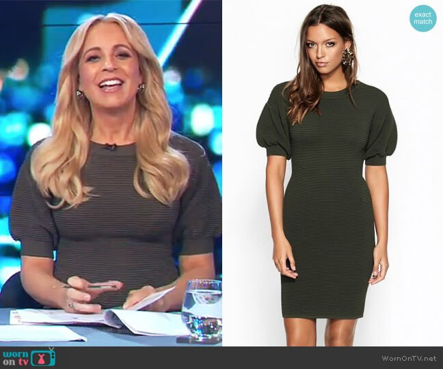 Fifi Knit Dress by Sheike worn by Carrie Bickmore  on The Project