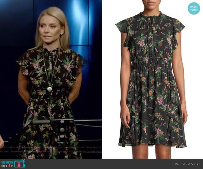 'Amora' Mini Dress by Shoshanna worn by Kelly Ripa  on Live with Kelly & Ryan