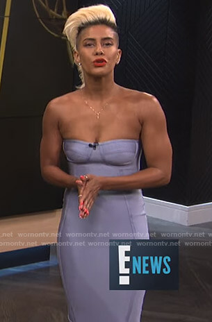 Sibley's strapless bandage dress on E! News