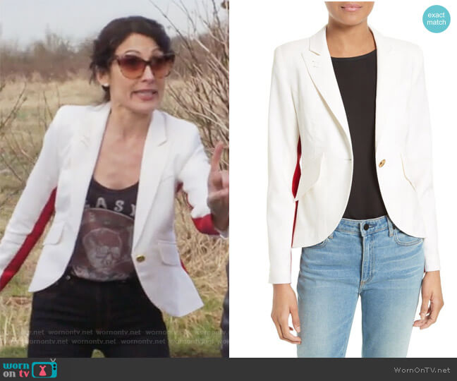 Striped Blazer by Smythe worn by Abby McCarthy (Lisa Edelstein) on GG2D