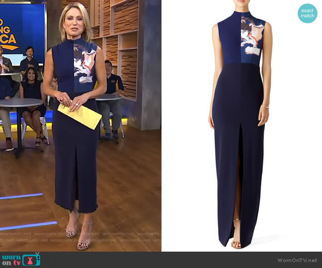 Solane Sleeveless Maxi Dress by Solace London worn by Amy Robach (Amy Robach) on Good Morning America