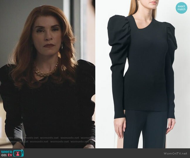 Puff Sleeved Jumper by Stella McCartney worn by Julianna Margulies on Dietland