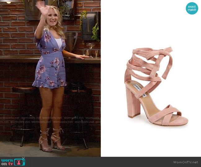 Steve Madden Christey Sandals worn by Gabi Diamond (Emily Osment) on Young & Hungry