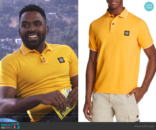 Regular Fit Polo Shirt by Stone Island worn by Justin Sylvester  on E! News